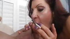 Milf Smoking Blowjob