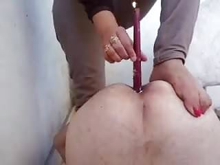 Mistress Lamis fucks my add with a candle