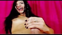 Beautiful T-Girl Masturbates on WebCam
