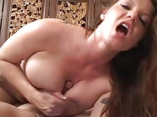 Busty chick gets her puss and butt swiped