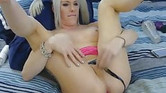 Blonde Tranny Chick Enjoys Playing Her Ass and Cock