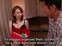 JAV wife Aya Kisaki uncensored blowjob foreplay Subtitled