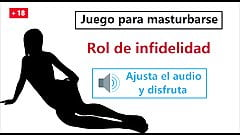 JOI hentai en espanol. Doble infidelidad, juego para mast...