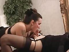 tranny with ideal sized cock get broken in for her husband