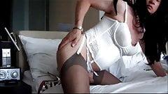 Andrea in white lingerie teasing