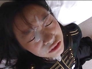 japanese amateur gets a huge thick facial load