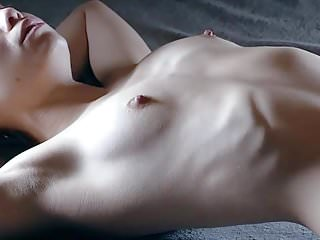 Skinny girl shows her ribs 2