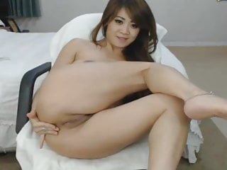 Hot Asian Babe Playing Pussy and Ass Fingering