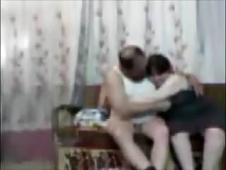 arab chhubby couple try to make a sex tape