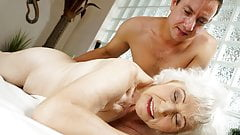 Old mom Norma enjoys sex after massage's Thumb