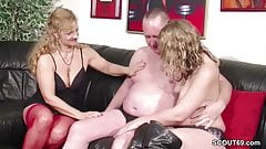 German Ugly Teen Lucy get First Fuck by Step-Dad and Mom