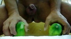 2 cucumbers and selffisting