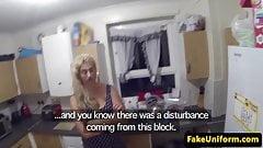 Busty uk slut pussyfucked by uniformed cop
