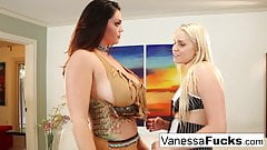 Alison and Vanessa decide to fuck before a Halloween Party