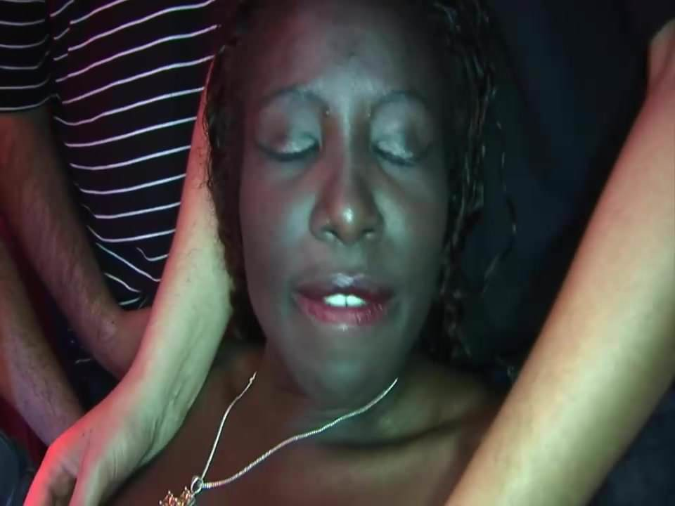 Gangbang-party with big boobs slut and ebony girlfriend!