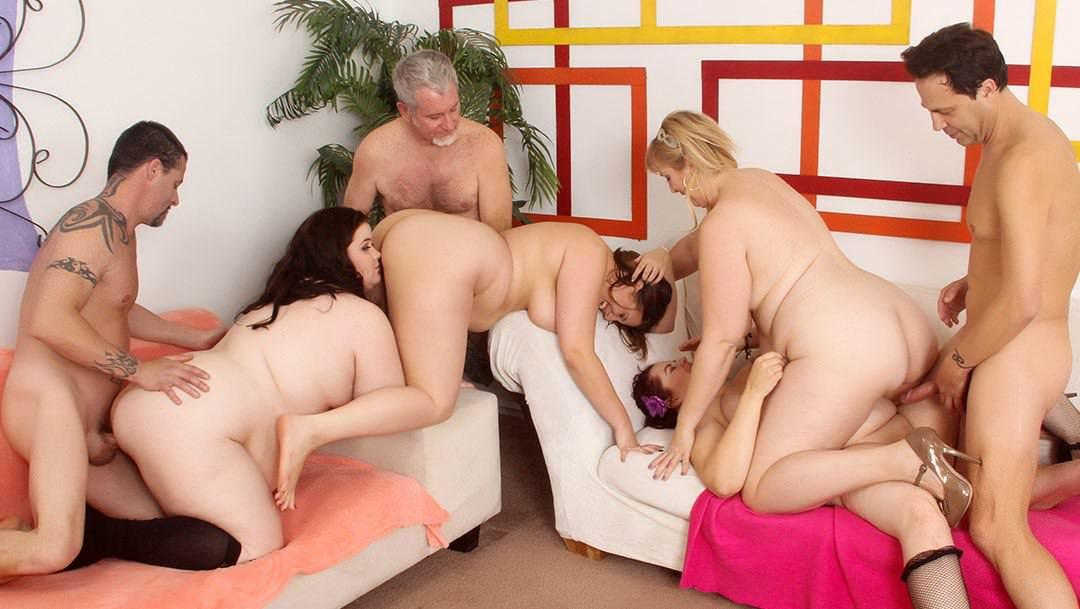 Порно секс групповуха толстых баб с огромными сиськами фото вас кончить женщины