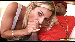 Blonde Cougar tries Black Meat's Thumb