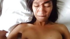 Asian girl gets creampie