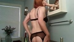 Lingerie suck and stroke
