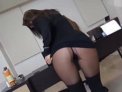 Sexy secretary fucked in pantyhose