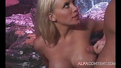 Blonde bitch gets good drilling in cave