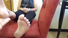 Cute mature feet