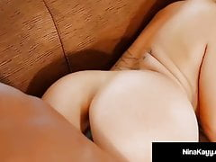 Big Black Cock Dives Down Nina Kayy's Throat & In Her Pussy!'s Thumb