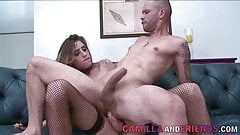 Juliana Soares Is in Fishnets While Getting Fucked