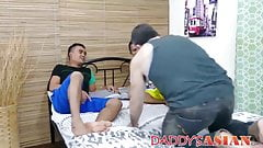 Asain breeding threesome starts with twink tickling