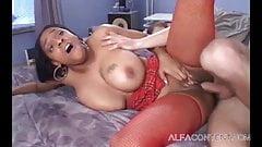 Big tits ebony babe takes long