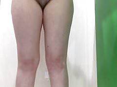 Nice upskirt cameltoe panties peeing in the shower 1