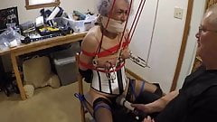 Ronni's Box-Tie & Breast Torture by PaBondage PART 1
