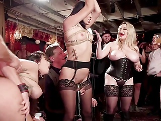 Bdsm Swingers Orgy With Glitter Electro Beatings