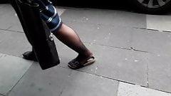 nylon granny legs and feet (+slow motion)