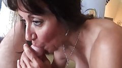 Black Haired Mature Loves Cock
