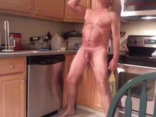 Massive dicked dad wanking 007
