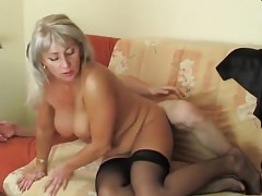 Hot blonde mature hot sex