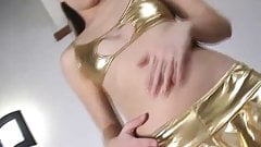 I love the gold PVC panties you got me