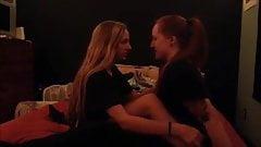 Amateur lesbian kiss challenge