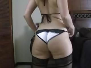 Juicy bubble butt shake in lingerie and stockings