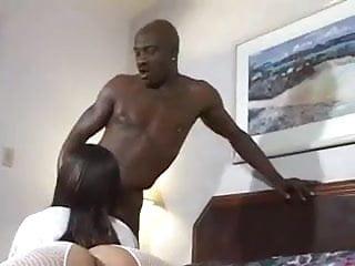 Slutty ebony Nurse sucks big Cock
