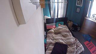 Caught masturbating in bed