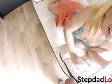 Teen with amazing ass Zoe Parker rides stepdads stiff pole
