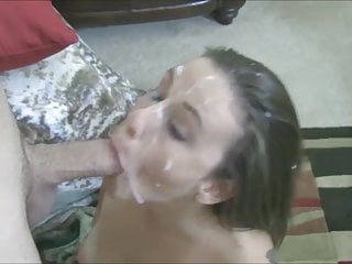 Cute Cumlover Begs For Her Massive Facial Cumshot