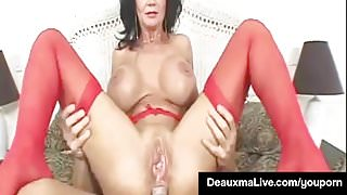 Texas Cougar Deauxma Takes A Big Dick In Her Mature Butthole