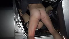 Slutwife Marion gangbanged by 20 strangers at a rest area's Thumb