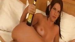 Russian Beauty Anal fuck with Bottle and baseball bat