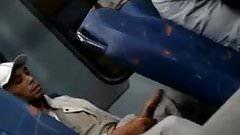 Man flashing huge dick at the bus