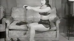 Brunette Beauty Seduces in Thigh Highs (1950s Vintage)