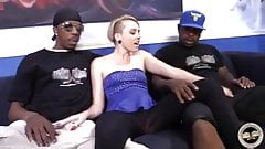 Miley May go black while cuckold watch and jerk off